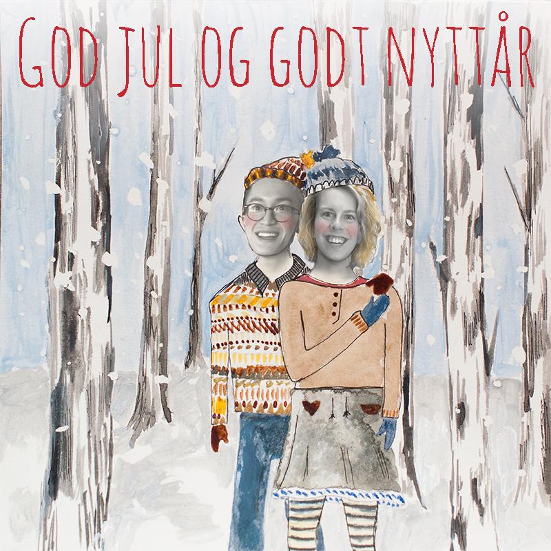 julekort med meg og phuong tekst god jul og godt nyttår WEB